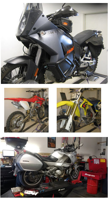 Dirt & Street Motorcycle Dyno Tuning & Mapping Services in